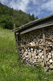 Wood. Caregno (Bs), Val Trompia,Italy, some firewood Royalty Free Stock Photography