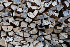 Wood. Detailed chopped wood, ready for making fire royalty free stock photo