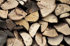 Wood. Some sawn timber used for heating Royalty Free Stock Images