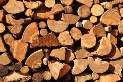 Wood 20. Stock of wood for heating Royalty Free Stock Photo