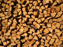 Wood. Background from pricked firewood for firebox Royalty Free Stock Images