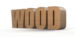 Wood. Illustation des Wortes Wood in 3D royalty free illustration