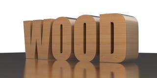 Wood. Illustation des Wortes Wood in 3D vector illustration