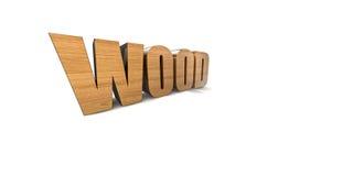 Wood. Illustation des Wortes Wood in 3D stock illustration