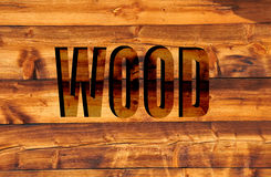 Wood in 3D Royalty Free Stock Photo