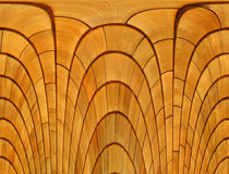 Wood abstract. Layers of wood shaped in arches Stock Images