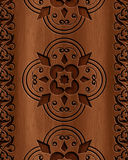 Wood Abstract Background. A beautiful wood carving texture Stock Photography