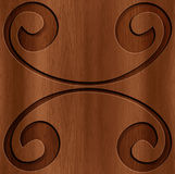 Wood Abstract Background. A beautiful wood carving texture stock illustration