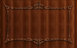 Wood Abstract Background. A beautiful wood carving texture Royalty Free Stock Photos