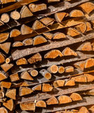 Wood abstract background. pattern dry firewood pile for furnace kindling. Chopped firewood logs. Firewood stack. Royalty Free Stock Photo