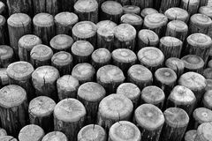 Wood in abstract composition Stock Photo