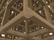 Wood  abstract construction royalty free stock photography