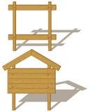 wood affischtavlor Stock Illustrationer