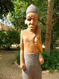 Wood African sculpture Stock Photo