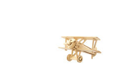 Wood airplane on old white background,with clipping path. Stock Photo