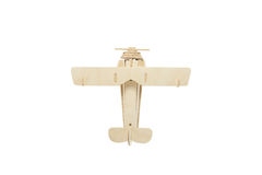 Wood airplane on old white background,with clipping path. Stock Photography