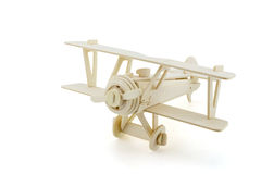 Wood airplane  on white background Stock Images