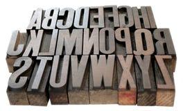 Wood alphabet Stock Image