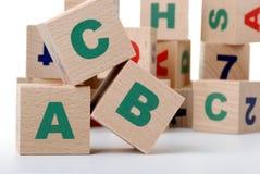 Wood alphabet Royalty Free Stock Photography