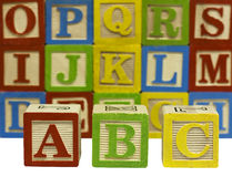 Wood alphabet blocks Stock Photography