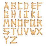 Wood Alphabet/ vector. Illustration of a set of wooden comic ABC Stock Image