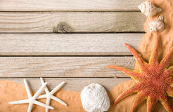 Wood And Sand Background Royalty Free Stock Photo