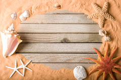 Wood And Sand Background Royalty Free Stock Photos