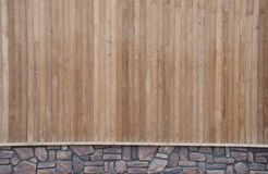 Wood And Stone Wall Stock Image