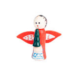 Wood angel. With wings. Christmas toy Royalty Free Stock Photo
