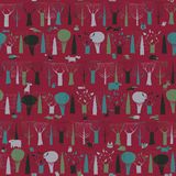 Wood Animals tapestry seamless pattern in dark colors Stock Photography