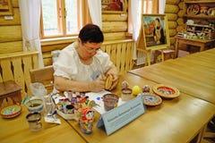 wood arbete för förlaga målning Royaltyfri Fotografi