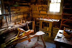 Wood arbetsbänk Royaltyfria Foton