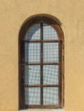 Wood arched window Royalty Free Stock Images