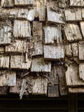 Wood arranged on top of the bungalow house Stock Photos