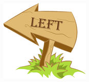 Wood arrow left. Wooden arrow indicating left way Stock Image