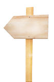 Wood arrow sign Royalty Free Stock Image