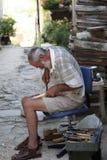 Wood artisan at work in Motovun, Croatia Royalty Free Stock Photos
