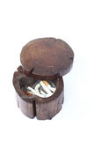 Wood ashtray Royalty Free Stock Photos