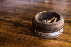 Wood ashtray Royalty Free Stock Photos