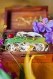 Wood ask för bröllop Royaltyfria Foton