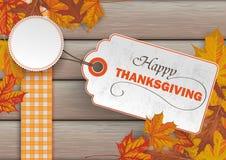 Wood Autumn Foliage Thanksgiving Price Sticker Royalty Free Stock Photo