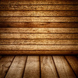 Wood Backdrop. Vintage wood wall and floor backdrop Stock Photos
