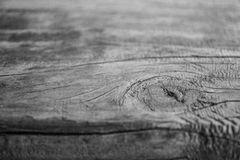 Wood backgroun. Closeup wood background. Black and white photo Stock Photos