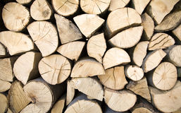 Wood Background. A background formed by logs of wood Royalty Free Stock Photos