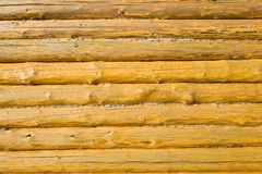 Wood Background. Close-up of log house Royalty Free Stock Photos