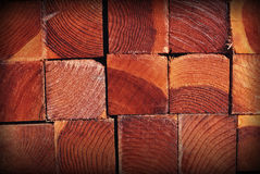 Wood background. Texture of wooden whetstones of a square form Stock Photo