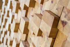 Wood background. Wood block, selective focus Royalty Free Stock Photo