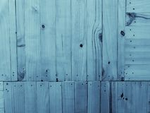 Wood background - blue colour royalty free stock images