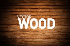 Wood Background. Brown Wooden Backdrop. Wood Background. Brown Vector Wooden Backdrop stock illustration