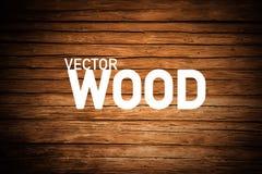 Wood Background. Brown Wooden Backdrop. stock illustration